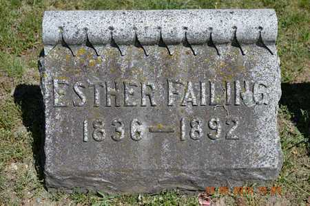 FAILING, ESTHER - Calhoun County, Michigan   ESTHER FAILING - Michigan Gravestone Photos
