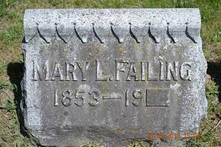 FAILING, MARY L. - Calhoun County, Michigan | MARY L. FAILING - Michigan Gravestone Photos