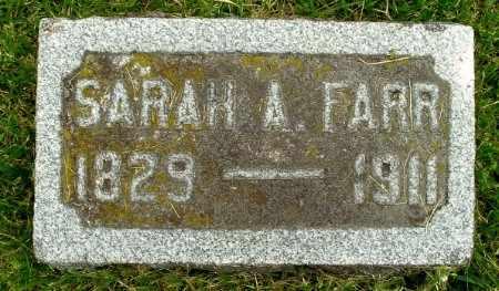 FARR, SARAH A - Calhoun County, Michigan | SARAH A FARR - Michigan Gravestone Photos