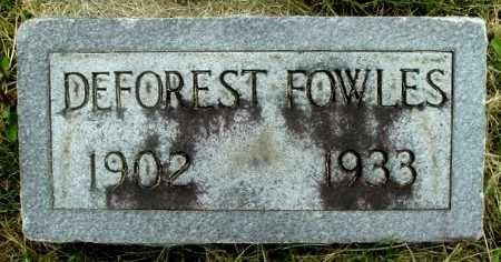 FOWLES, DEFOREST - Calhoun County, Michigan | DEFOREST FOWLES - Michigan Gravestone Photos