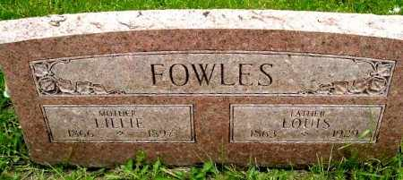 FOWLES, LILLIE - Calhoun County, Michigan | LILLIE FOWLES - Michigan Gravestone Photos