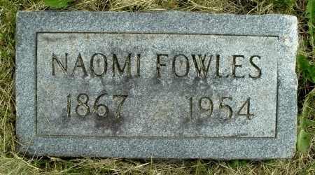 FOWLES, NAOMI - Calhoun County, Michigan | NAOMI FOWLES - Michigan Gravestone Photos
