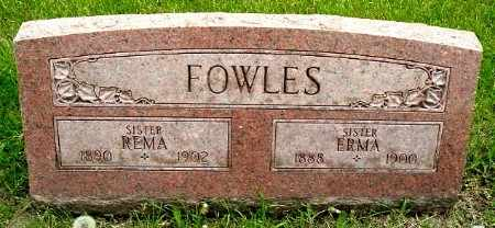 FOWLES, ERMA - Calhoun County, Michigan   ERMA FOWLES - Michigan Gravestone Photos