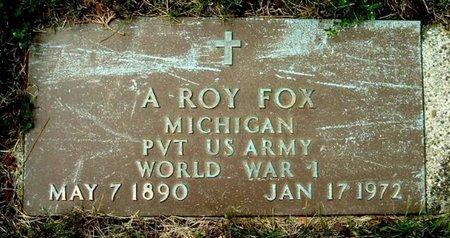 FOX, A. ROY - Calhoun County, Michigan   A. ROY FOX - Michigan Gravestone Photos