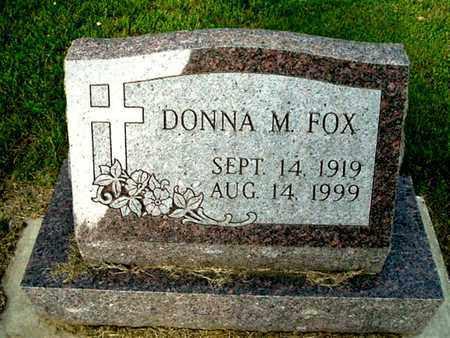 FOX, DONNA M - Calhoun County, Michigan | DONNA M FOX - Michigan Gravestone Photos
