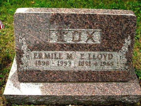 FOX, E. LLOYD - Calhoun County, Michigan | E. LLOYD FOX - Michigan Gravestone Photos