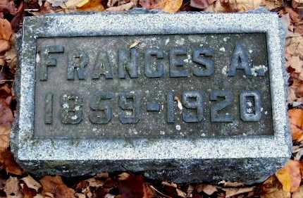 FOX, FRANCES A - Calhoun County, Michigan   FRANCES A FOX - Michigan Gravestone Photos