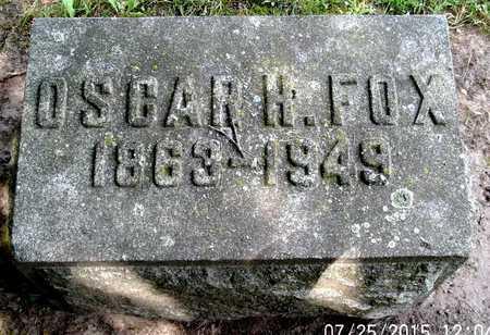 FOX, OSCAR H - Calhoun County, Michigan | OSCAR H FOX - Michigan Gravestone Photos
