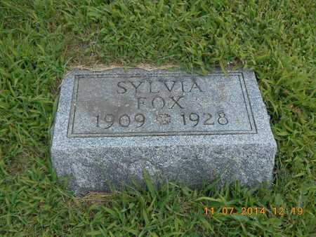 FOX, SYLVIA - Calhoun County, Michigan | SYLVIA FOX - Michigan Gravestone Photos
