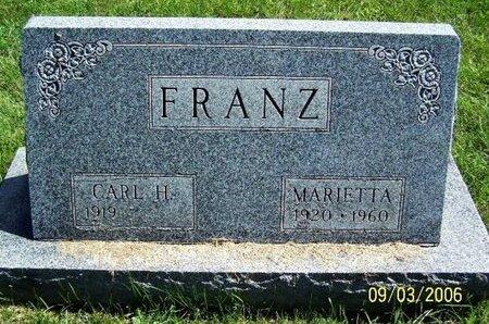 FRANZ, CARL H - Calhoun County, Michigan | CARL H FRANZ - Michigan Gravestone Photos