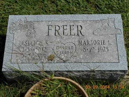 FREER, MARJORIE L. - Calhoun County, Michigan | MARJORIE L. FREER - Michigan Gravestone Photos