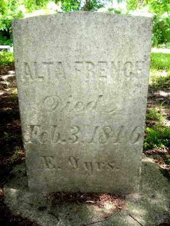 FRENCH, ALTA - Calhoun County, Michigan   ALTA FRENCH - Michigan Gravestone Photos