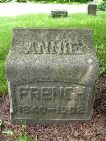 FRENCH, ANNIE - Calhoun County, Michigan | ANNIE FRENCH - Michigan Gravestone Photos