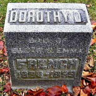 FRENCH, DOROTHY D - Calhoun County, Michigan | DOROTHY D FRENCH - Michigan Gravestone Photos