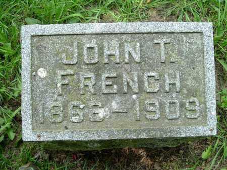 FRENCH, JOHN T - Calhoun County, Michigan | JOHN T FRENCH - Michigan Gravestone Photos