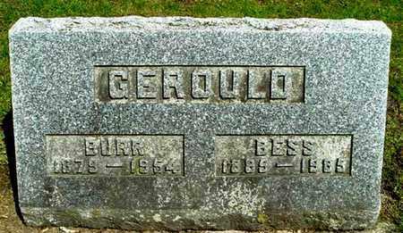 GEROULD, BESS - Calhoun County, Michigan   BESS GEROULD - Michigan Gravestone Photos