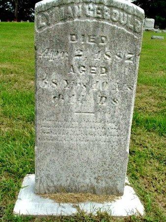 GEROULD, LYMAN - Calhoun County, Michigan   LYMAN GEROULD - Michigan Gravestone Photos