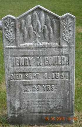 GOULD, HENRY N. - Calhoun County, Michigan   HENRY N. GOULD - Michigan Gravestone Photos