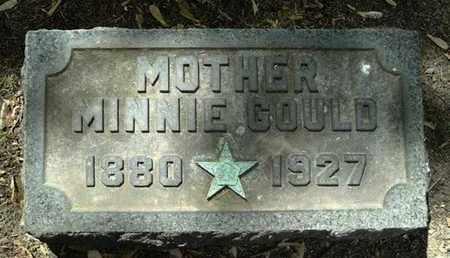 GOULD, MINNIE - Calhoun County, Michigan | MINNIE GOULD - Michigan Gravestone Photos