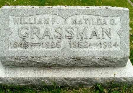 GRASSMAN, WILLIAM F - Calhoun County, Michigan | WILLIAM F GRASSMAN - Michigan Gravestone Photos