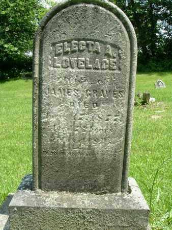 LOVELACE GRAVES, ELECTA A. - Calhoun County, Michigan | ELECTA A. LOVELACE GRAVES - Michigan Gravestone Photos