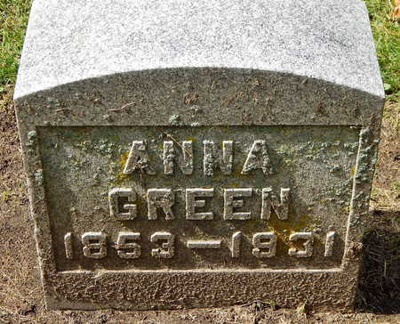 GREEN, ANNA - Calhoun County, Michigan | ANNA GREEN - Michigan Gravestone Photos