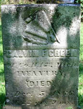 GREEN, CALVIN - Calhoun County, Michigan | CALVIN GREEN - Michigan Gravestone Photos