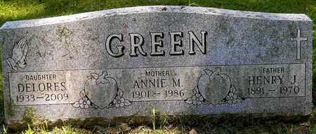 GREEN, ANNIE M - Calhoun County, Michigan | ANNIE M GREEN - Michigan Gravestone Photos