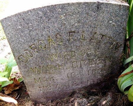 GREEN, DORCAS F - Calhoun County, Michigan | DORCAS F GREEN - Michigan Gravestone Photos