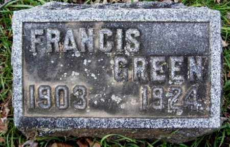 GREEN, FRANCIS - Calhoun County, Michigan | FRANCIS GREEN - Michigan Gravestone Photos