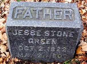 GREEN, JESSE STONE - Calhoun County, Michigan | JESSE STONE GREEN - Michigan Gravestone Photos
