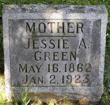 GREEN, JESSIE A - Calhoun County, Michigan | JESSIE A GREEN - Michigan Gravestone Photos
