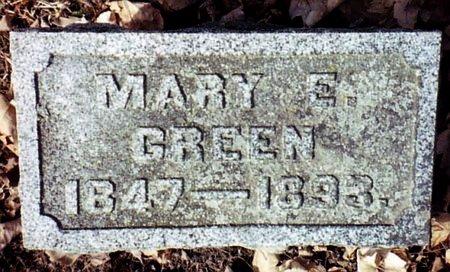 GREEN, MARY E. - Calhoun County, Michigan | MARY E. GREEN - Michigan Gravestone Photos