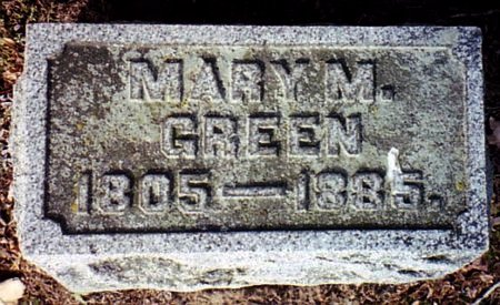 GREEN, MARY M. - Calhoun County, Michigan | MARY M. GREEN - Michigan Gravestone Photos