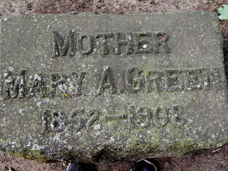GREEN, MARY A - Calhoun County, Michigan | MARY A GREEN - Michigan Gravestone Photos