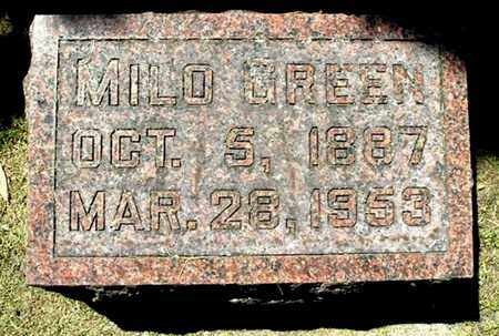GREEN, MILO - Calhoun County, Michigan   MILO GREEN - Michigan Gravestone Photos