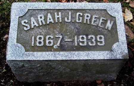 GREEN, SARAH J - Calhoun County, Michigan | SARAH J GREEN - Michigan Gravestone Photos
