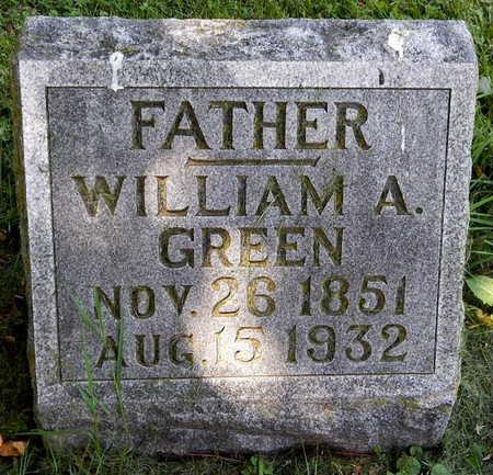GREEN, WILLIAM A - Calhoun County, Michigan | WILLIAM A GREEN - Michigan Gravestone Photos