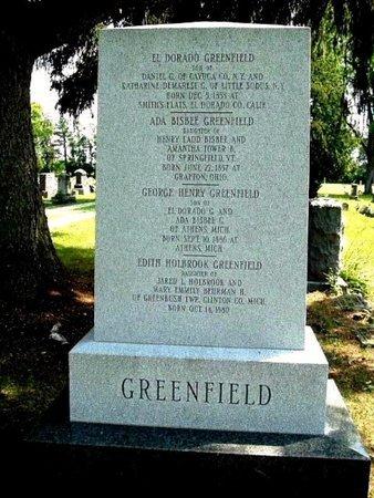 GREENFIELD, EL DORADO - Calhoun County, Michigan | EL DORADO GREENFIELD - Michigan Gravestone Photos