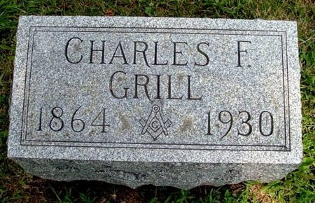 GRILL, CHARLES F - Calhoun County, Michigan   CHARLES F GRILL - Michigan Gravestone Photos