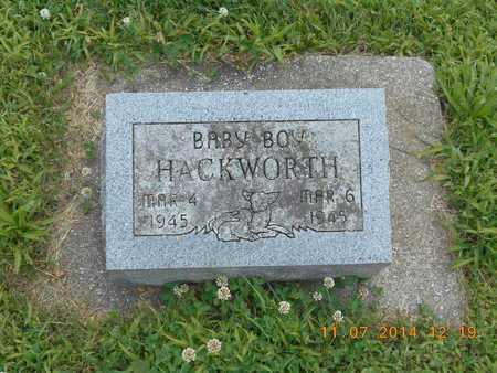 HACKWORTH, BABY BOY - Calhoun County, Michigan | BABY BOY HACKWORTH - Michigan Gravestone Photos