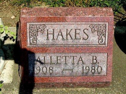 HAKES, ALLETTA B. - Calhoun County, Michigan | ALLETTA B. HAKES - Michigan Gravestone Photos