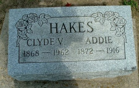 HAKES, ADDIE - Calhoun County, Michigan | ADDIE HAKES - Michigan Gravestone Photos