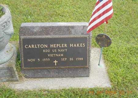 HAKES, CARLTON HEPLER - Calhoun County, Michigan | CARLTON HEPLER HAKES - Michigan Gravestone Photos