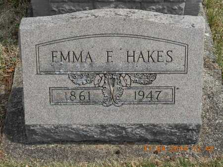 HAKES, EMMA F. - Calhoun County, Michigan   EMMA F. HAKES - Michigan Gravestone Photos
