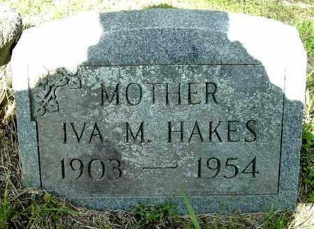 HAKES, IVA M - Calhoun County, Michigan | IVA M HAKES - Michigan Gravestone Photos