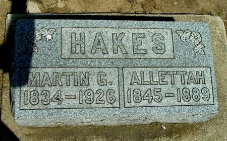 HAKES, ALLETTAH - Calhoun County, Michigan | ALLETTAH HAKES - Michigan Gravestone Photos