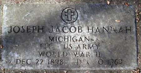 HANNAH, JOSEPH JACOB - Calhoun County, Michigan   JOSEPH JACOB HANNAH - Michigan Gravestone Photos