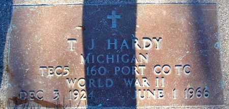 HARDY, T. J. - Calhoun County, Michigan | T. J. HARDY - Michigan Gravestone Photos