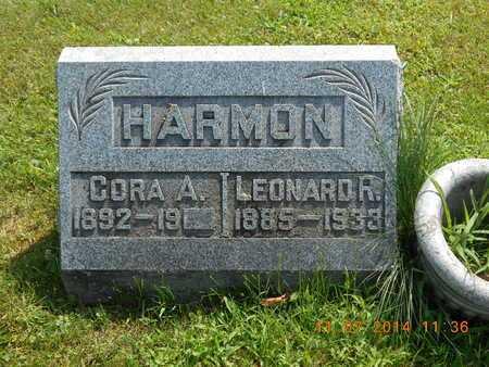 HARMON, CORA A. - Calhoun County, Michigan   CORA A. HARMON - Michigan Gravestone Photos
